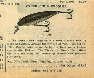1918 Ad for the Creek Chub Wiggler