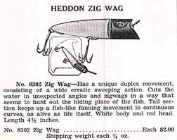 Heddon Zig Wag Ad from the mid 1930's