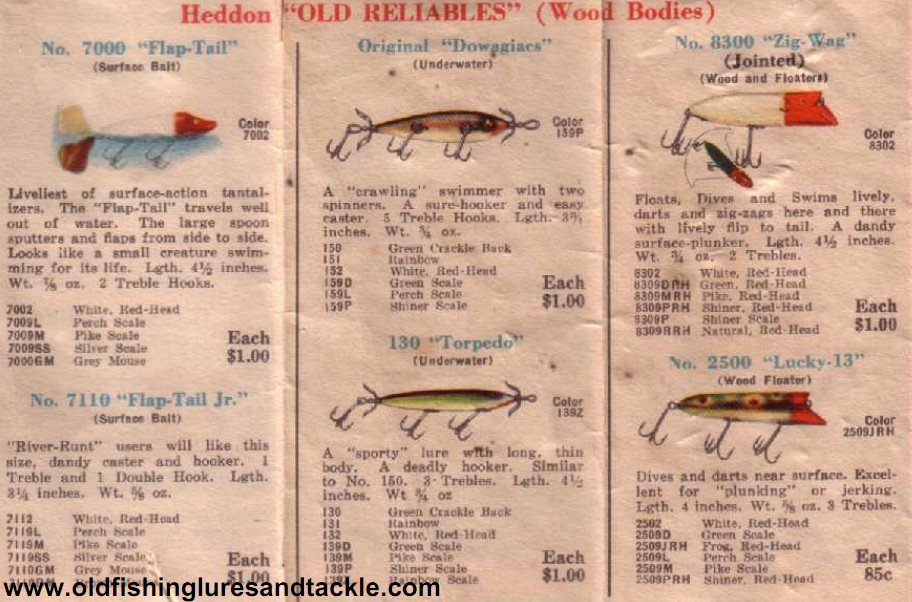What is the best heddon catalog for Free fishing catalogs