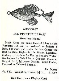 Fred Arbogast Tin Liz Sunfish