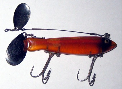 Heddon dowagiac spook old antique fishing lures tackle for Heddon antique fishing lures