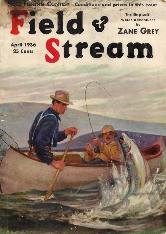 field and stream magazine may 1936 old antique fishing lures